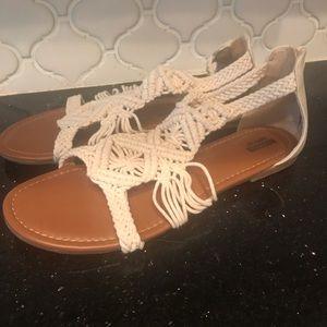 NWOT Crochet Sandals